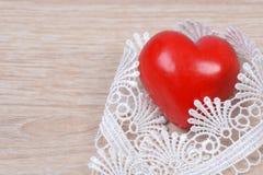 Coração com fita Foto de Stock Royalty Free