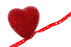 Coração com fita Imagem de Stock Royalty Free