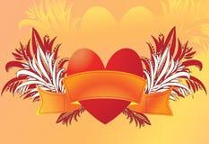 Coração com fita Foto de Stock