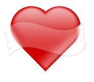 Coração com fita empthy ilustração stock