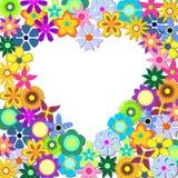 Coração com flores ilustração do vetor