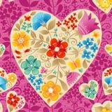 Coração com flores. Imagem de Stock Royalty Free