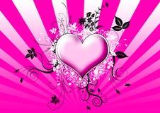 Coração com flores Imagens de Stock