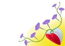 Coração com flowerets Imagens de Stock