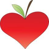 Coração com folha Foto de Stock