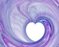 Coração com fundo abstrato Fotos de Stock Royalty Free