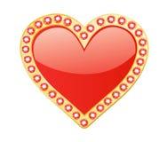 Coração com gemas Foto de Stock