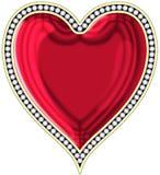Coração com jóias Imagens de Stock