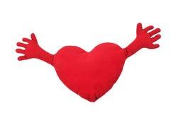 Coração com mãos Fotos de Stock