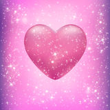 Coração com os remendos da luz ilustração stock