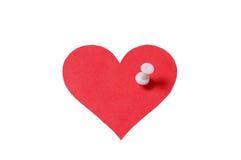 Coração com pino foto de stock