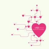Coração com relações Imagens de Stock Royalty Free
