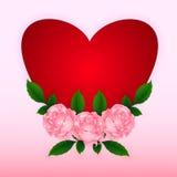 Coração com rosas ilustração stock
