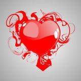 Coração com sangue ilustração stock