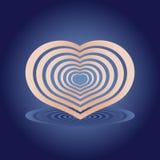 Coração com sombra Imagem de Stock Royalty Free
