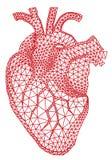 Coração com teste padrão geométrico, vetor Fotos de Stock Royalty Free