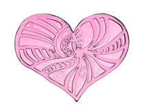 Coração com testes padrões Imagem de Stock