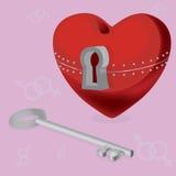 Coração com um segredo Fotografia de Stock Royalty Free