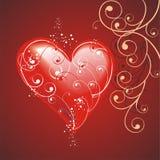Coração com um teste padrão decorativo em vagabundos de um marrom escuro Fotos de Stock Royalty Free