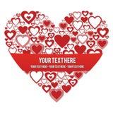 Coração com uma bandeira Fotografia de Stock Royalty Free