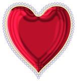 Coração com uma borda das jóias Imagem de Stock Royalty Free