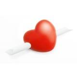 Coração com uma mensagem Imagem de Stock