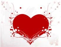 Coração com videiras Fotos de Stock Royalty Free