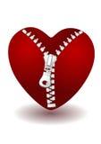Coração com zipper Imagens de Stock Royalty Free