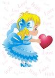 Coração como um presente Fotos de Stock Royalty Free