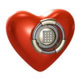 Coração como um vault isolado no branco Fotos de Stock