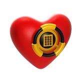 Coração como um vault isolado no branco Imagens de Stock Royalty Free