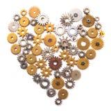 Coração composto com rodas denteadas Foto de Stock