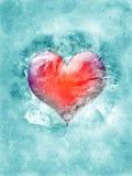 Coração congelado Fotografia de Stock