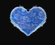 Coração congelado Fotografia de Stock Royalty Free