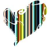 Coração, contrastes e linhas alegres Fundo do Valentim ilustração royalty free