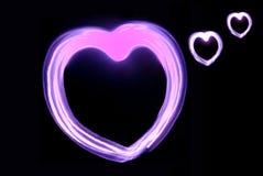 Coração cor-de-rosa Fotografia de Stock