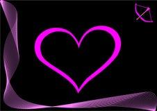 Coração cor-de-rosa Foto de Stock