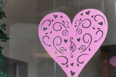 Coração cor-de-rosa Fotos de Stock