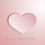 Coração cor-de-rosa do amor do vetor Fotografia de Stock