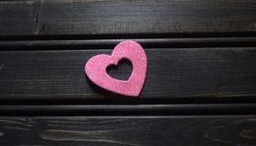 Coração cor-de-rosa do brilho Fotografia de Stock Royalty Free