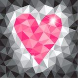 Coração cor-de-rosa do triângulo Foto de Stock