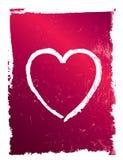 Coração cor-de-rosa e vermelho moderno do grunge, vetor Fotografia de Stock Royalty Free