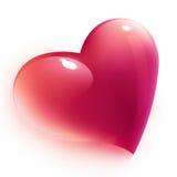 Coração cor-de-rosa isolado Fotografia de Stock Royalty Free