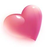 Coração cor-de-rosa para o Valentim, isolado Foto de Stock Royalty Free