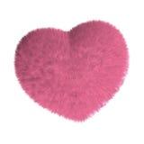 Coração cor-de-rosa peludo Foto de Stock
