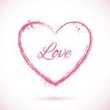 Coração-cor-de-rosa-quadro Imagem de Stock Royalty Free