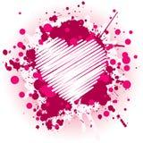Coração cor-de-rosa sujo Foto de Stock Royalty Free