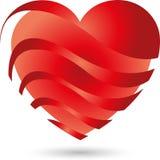 Coração, coração que incandesce, luz Foto de Stock
