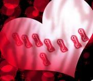 Coração costurado Imagem de Stock