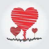 coração crescente com logotipo verdadeiro do amor Fotos de Stock Royalty Free